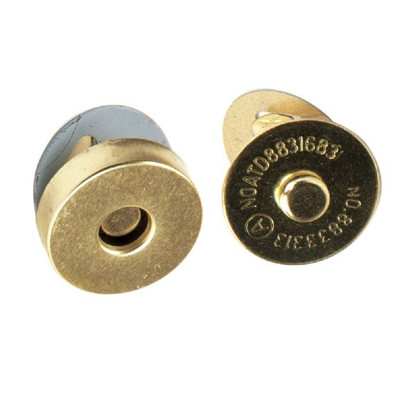 Magnetic Bag Clasp - 14mm Gold